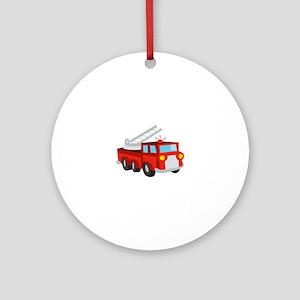 Fire Truck Ornament (Round)