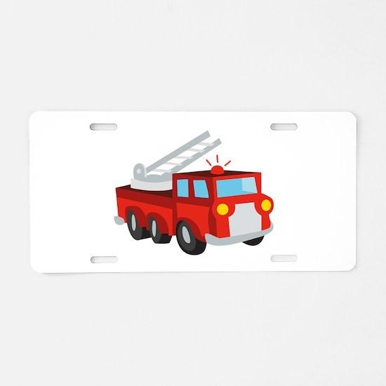 Fire Truck Aluminum License Plate