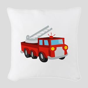 Fire Truck Woven Throw Pillow