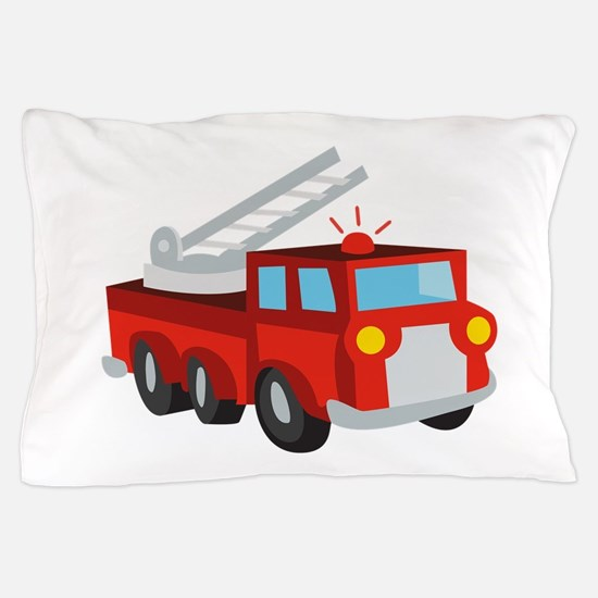 Fire Truck Pillow Case