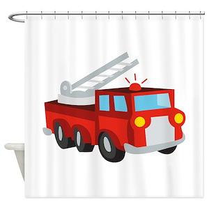 Firetruck Shower Curtains