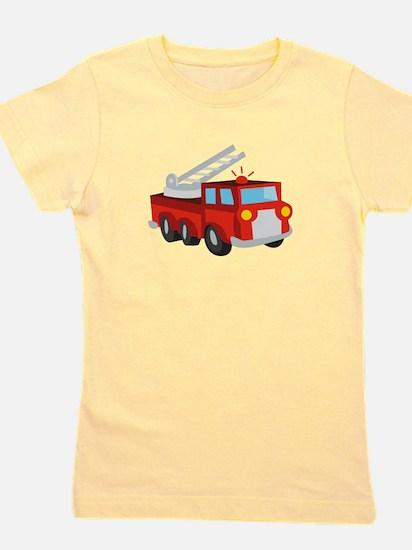 Fire Truck Girl's Tee
