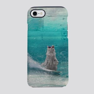 weathered wood beach art - sur iPhone 7 Tough Case