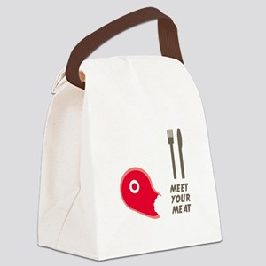 Meet Your Meat Canvas Lunch Bag