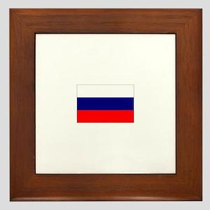russian federation flag Framed Tile