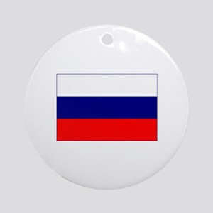 russian federation flag Ornament (Round)