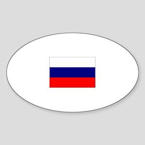 russian federation flag Oval Sticker