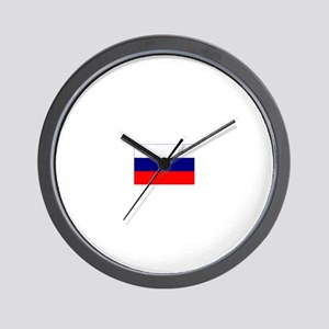 russian federation flag Wall Clock