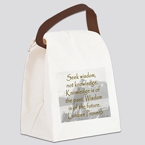 Seek Wisdom Canvas Lunch Bag
