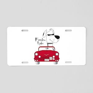 Freedom Rider Aluminum License Plate