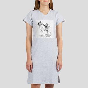 Norwegian Elkhound Women's Nightshirt