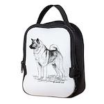 Norwegian Elkhound Neoprene Lunch Bag