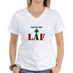 Support our LAF Women's V-Neck T-Shirt