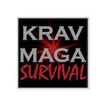 Krav Maga Square Sticker 3