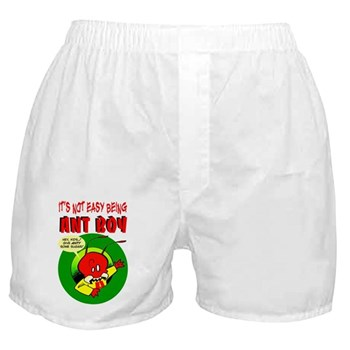 """""""It's Not Easy Being Ant Boy"""" Boxer Shorts"""