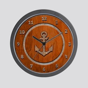 Rusty Anchorwood Wall Clock