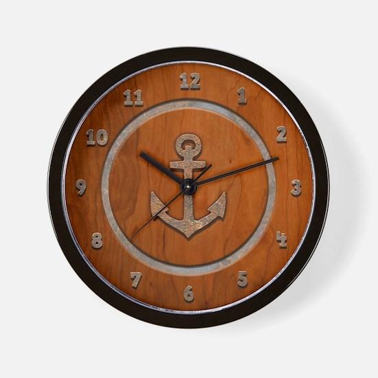 Rusty Anchorwood Wall Clock