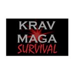 Krav Maga 35x21 Wall Decal
