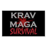 Krav Maga Sticker (Rectangle 50 pk)