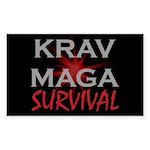 Krav Maga Sticker (Rectangle 10 pk)