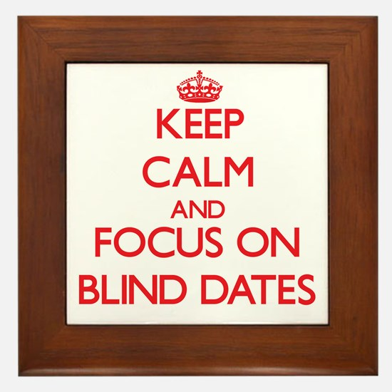 Unique Keep calm and date a blonde Framed Tile