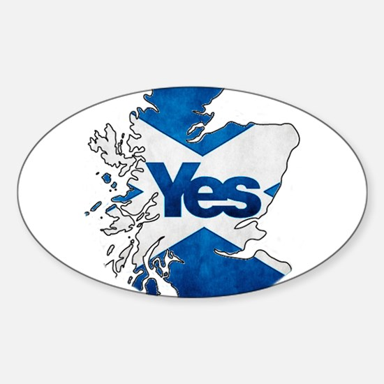 Yes for Scotland Sticker (Oval)