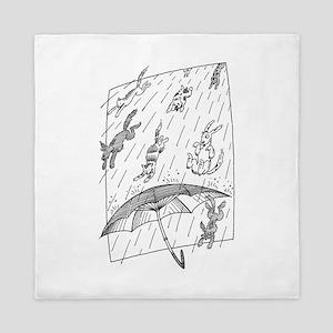 Raining Cats & Dogs Queen Duvet