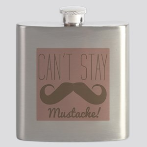 Cant Stay Mustache Flask