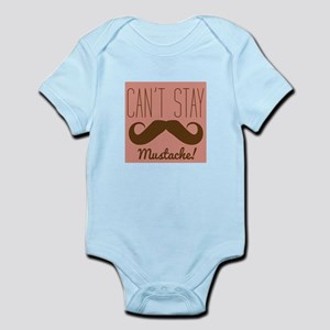 Cant Stay Mustache Body Suit