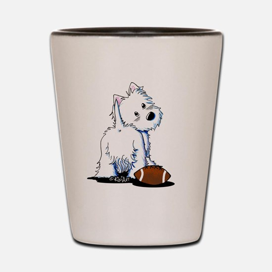 Tailgating Westie Shot Glass