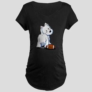 Tailgating Westie Maternity Dark T-Shirt