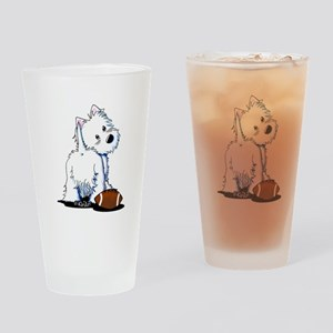 Tailgating Westie Drinking Glass