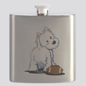 Tailgating Westie Flask