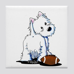 Tailgating Westie Tile Coaster