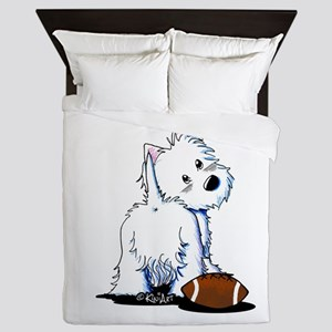 Tailgating Westie Queen Duvet