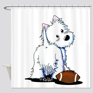 Tailgating Westie Shower Curtain