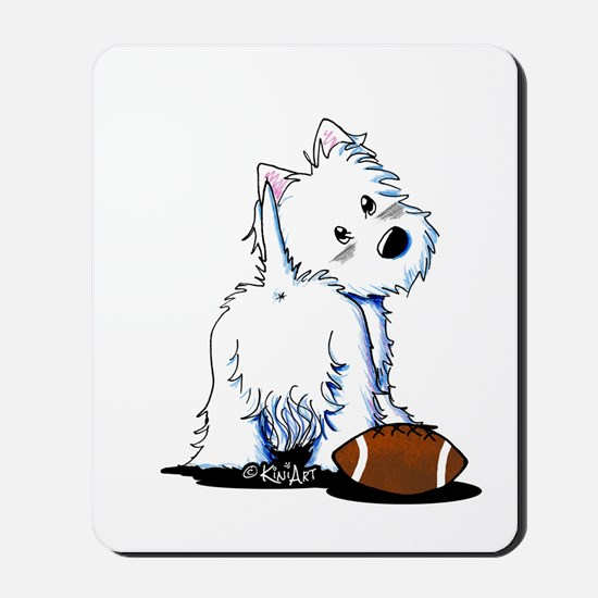 Tailgating Westie Mousepad
