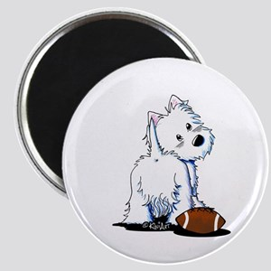Tailgating Westie Magnet