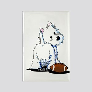 Tailgating Westie Rectangle Magnet