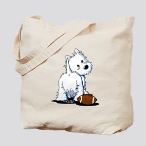 Tailgating Westie Tote Bag