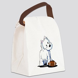 Tailgating Westie Canvas Lunch Bag