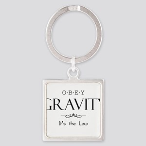 Obey Gravity Square Keychain