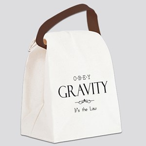 Obey Gravity Canvas Lunch Bag
