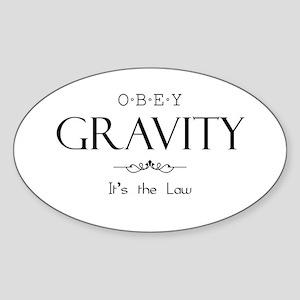 Obey Gravity Sticker (Oval)