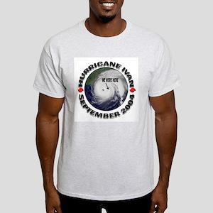 Hurricane Ivan We Were Here Ash Grey T-Shirt