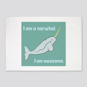 I Am A Narwhal 5'x7'Area Rug