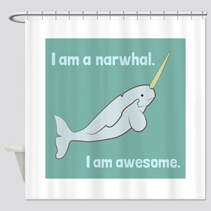 I Am A Narwhal Shower Curtain