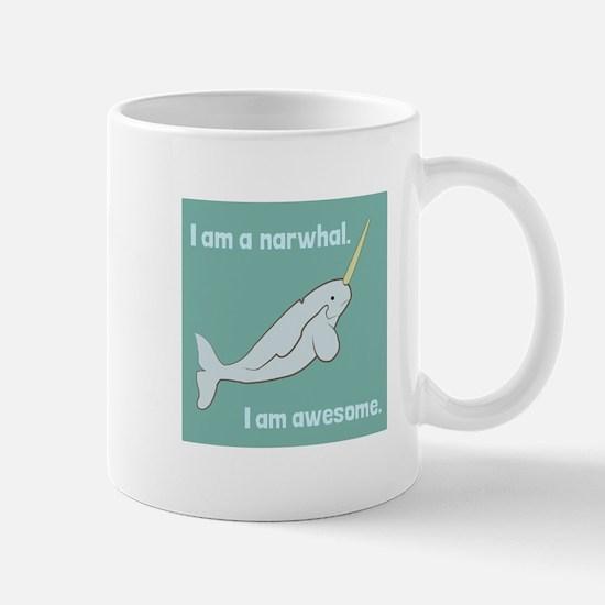 I Am A Narwhal Mugs