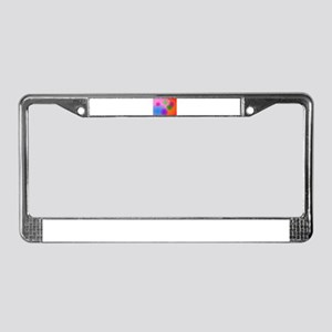 Colorful Ellipses License Plate Frame