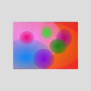 Colorful Ellipses 5'x7'Area Rug